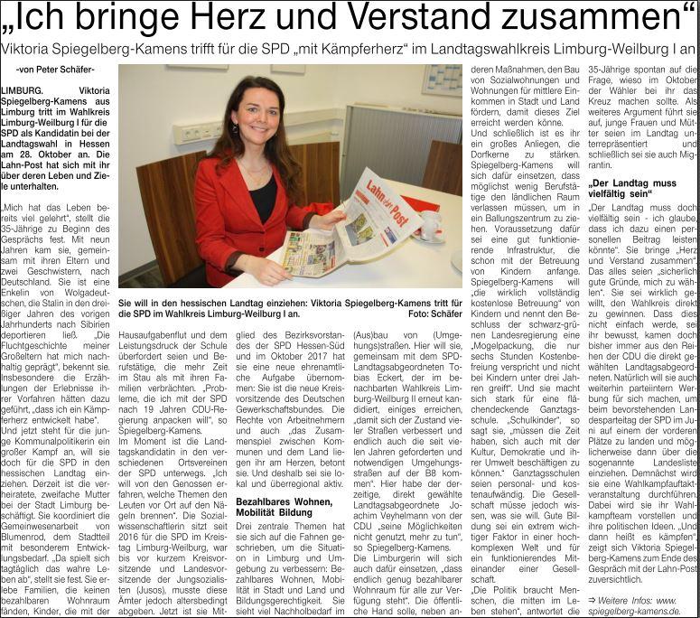 Landtagswahl 2018 Hessen Interview Viktoria-Spiegelberg-Kamens