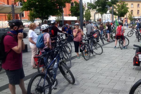 Fahrraddemo in Limburg, organisiert von Fridays for Future